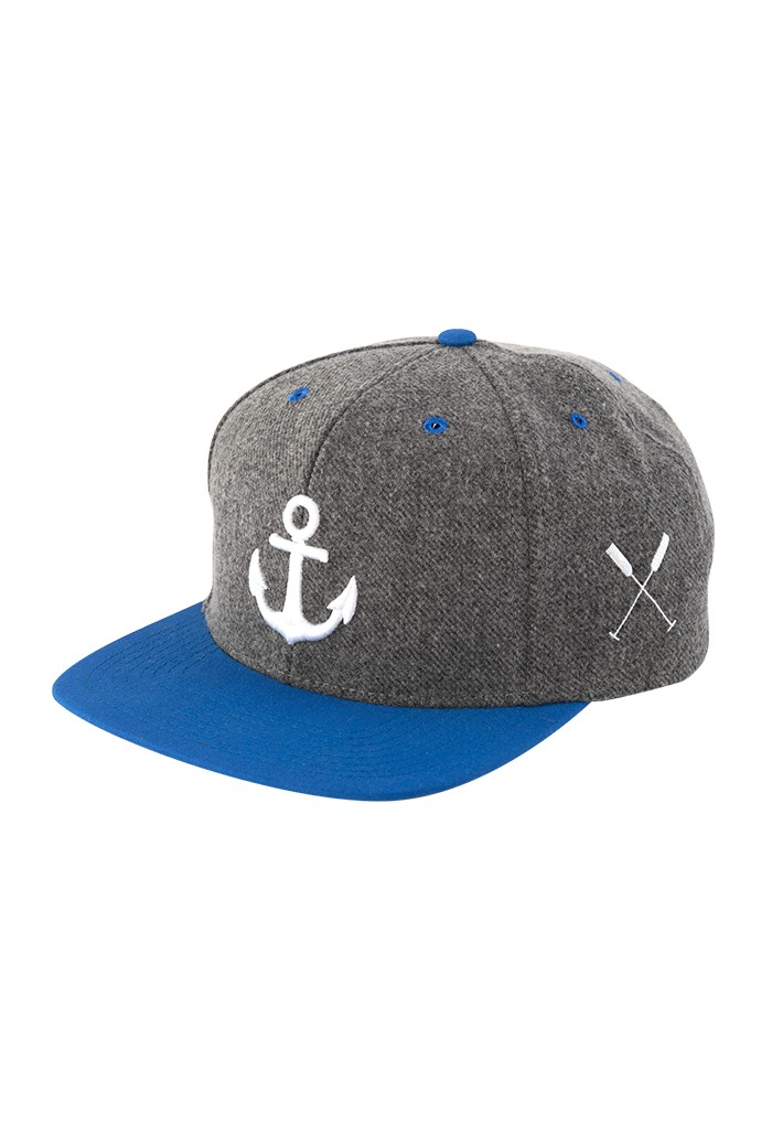 Anker Wolle Snapback Cap