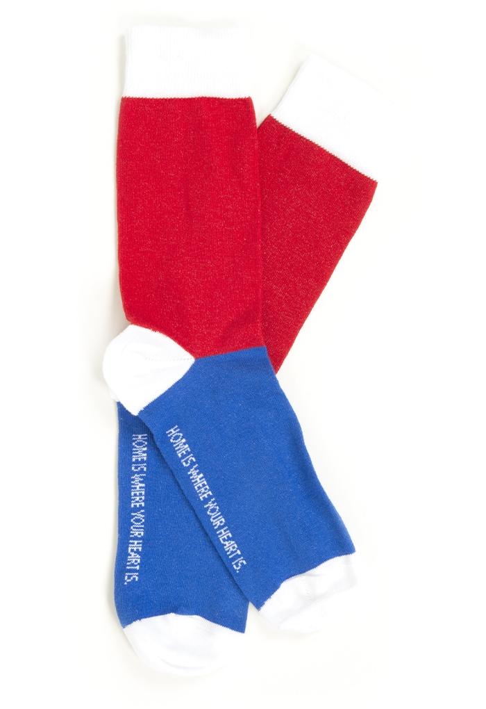 Tricolor Socken
