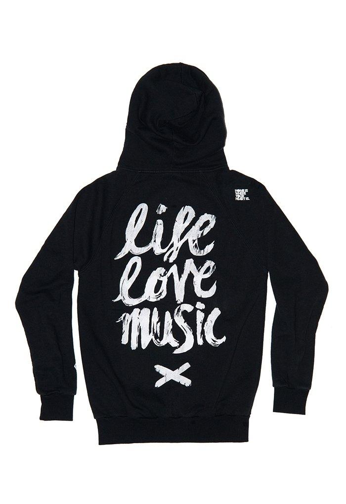 Life. Love. Music. Zip-Hoodie