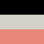 Schwarz/Hellgrau meliert/Marsala